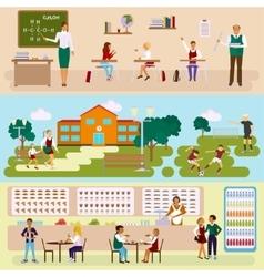 School banners set vector image