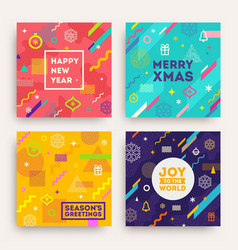 set abstract holidays background vector image