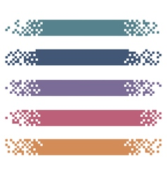 set colored modern pixel banners for headers vector image