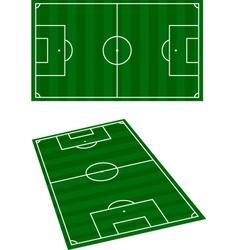 Soccer terrain vector