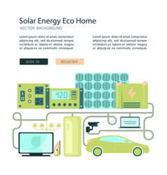 solar energy eco home vector image