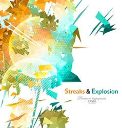 Streaks and explosion background vector