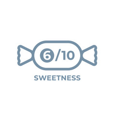 Sweetness level food package label product sugar vector