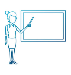 teacher with blackboard vector image