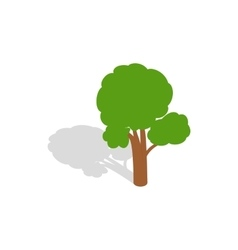 Tree icon isometric 3d style vector