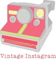 Vintage instagram vector