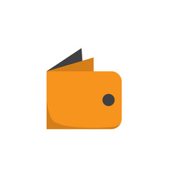 Wallet flat icon symbol premium quality isolated vector