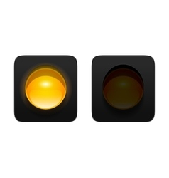 Yellow traffic light vector