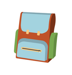 cartoon schoolbag icon schools supplies vector image vector image
