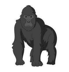 gorilla icon monochrome vector image vector image