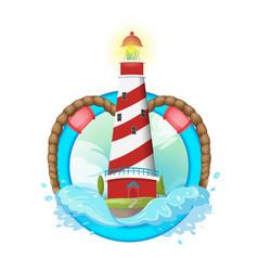lighthouse symbol logo design vector image