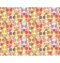 Pattern from cows muzzles vector image