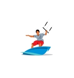 Wakeboarding sign vector image