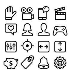 Website menu navigation line icons set vector image vector image