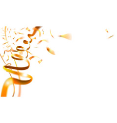 carnival background with gold streamer and vector image