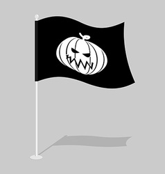 Flag Halloween Traditional holiday growing flag vector image vector image