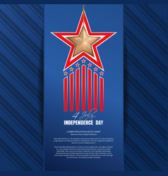 independence day background fourth of july vector image vector image