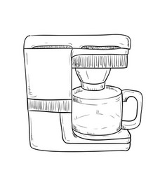 sketch hand drawn of kitchen utensils vector image
