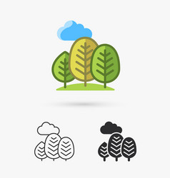 abstract trees icon vector image