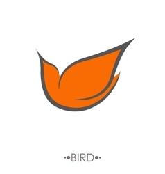Bird Logo design template linear style vector image