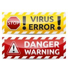 Danger banner vector image vector image
