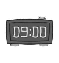 Digital alarm clock icon black monochrome style vector image vector image