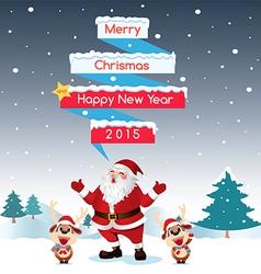 Merry Christmas Night vector image