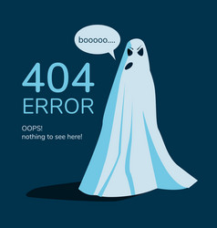 page not found web site error banner vector image vector image