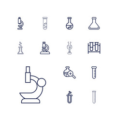 13 lab icons vector