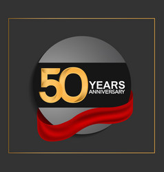 50 years anniversary logotype with golden color vector