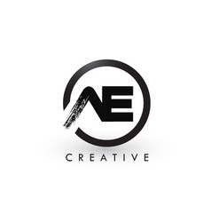 Ae brush letter logo design creative brushed vector