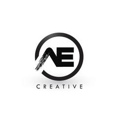 Ae brush letter logo design creative brushed vector
