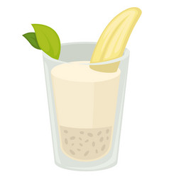 banana milkshake isolated protein drink tropical vector image