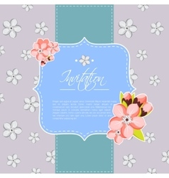 Beautiful invitation or greeting card template vector image
