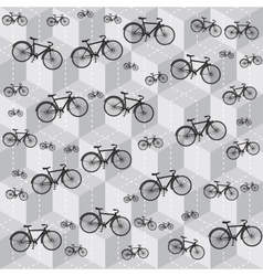 bicycle pattern vector image