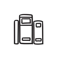 Books sketch icon vector