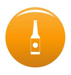 bottle water icon orange vector image