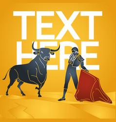 Bull fighting icon vector
