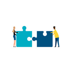 Business concept teamwork metaphor two vector