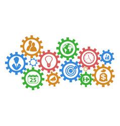 Business mechanism gears background vector