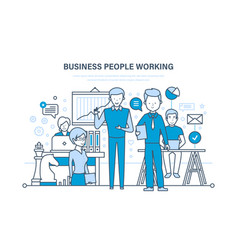 Business people working colleagues teamwork vector