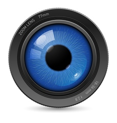 Camera eyes lens vector image