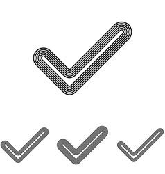 Checkmark line logo design set vector
