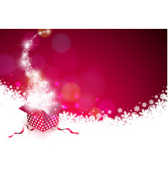 christmas on shiny red background vector image