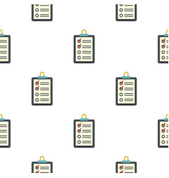 Clipboard with checklist pattern flat vector