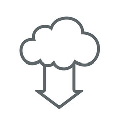 cloud download flat icon sign logo vector image