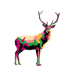 colorful deer vector image