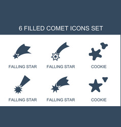 comet icons vector image