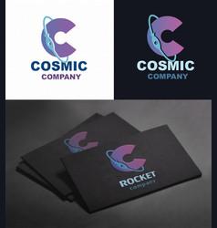 Cosmic logo letter c vector