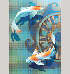 couple of koi carp vector image